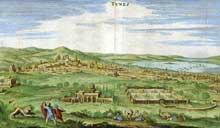 Matthias Mérian: La ville de Tunis. 1612. Gravure