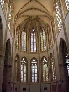 Famagouste, île de Chypre. L'ancienne cathédrale saint Nicolas, transformée en mosquée Pacha Lala Mustafa. La nef