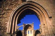 Famagouste, île de Chypre. Eglise saint Georges des Grecs. Le porche. Vers 1300