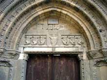Ile de Chypre. Nicosie, la cathédrale Hagia Sophia. Le tympan du portail