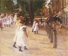 Max Liebermann (1847-1935): sur le chemin de l'école à Edam. Huile sur toile. Wintethur, fondation Oskar Reinhart