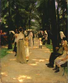 Max Liebermann (1847-1935): l'allée aux perroquets. 1902. Huile sur toile, 88 x 72,5cm. Brème, Kunsthalle