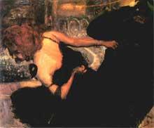 Max Slevogt (1868-1932): danse avec la mort. 1895. Nuremberg