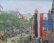 Max Slevogt (1868-1932): Berlin, unter den Linden. Berlin, alte Nationalgelerie