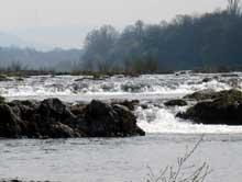 Istein en Bade�: la barre sur le Rhin