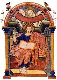 Evangéliaire de l'abbesse Ada: l'évangéliste saint Luc. Vers 800. Parchemin. Folio 85v. Trèves, Bibliothèque municipale