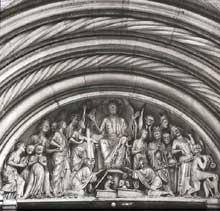 Bamberg, le Dom: tympan de la façade occidentale