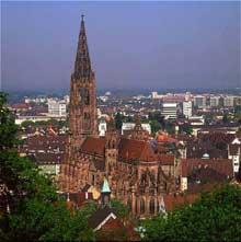 Fribourg en Brisgau. La cathédrale. Transept sud