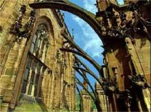 Fribourg en Brisgau. La cathédrale. Intérieur de la flèche