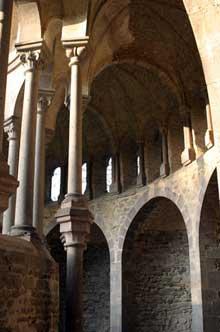 Abbatiale d'Heitersbach. Ruines du chœur