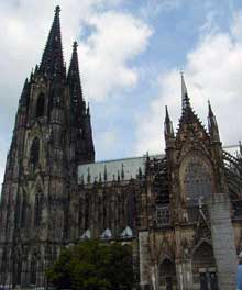Cologne, le Dôme. Vue générale