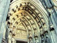 Cologne, le Dôme. Portail de la façade occidentale