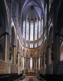 Cologne, le Dôme. La nef centrale