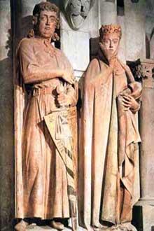 Naumbourg, le dôme: le comte Ekhard et Uta
