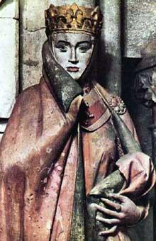 Naumbourg, le dôme: une des plus célèbres sculptures du gothique: Uta