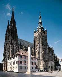 Prague: le dôme saint Vit. Vue générale