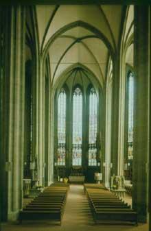 "Soest: vaisseau central de la ""Hallenkirche"" Sankt Maria zur Wiese (1331 1400"
