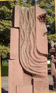 Ludwigshafen: monument-fontaine en l'honneur de Johann Gottfried Tulla