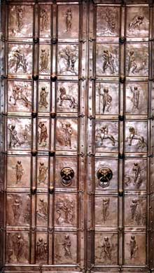 Augsbourg: la porte de bronze, fin XIè