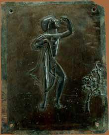Augsbourg: la porte de bronze, fin XIè. Détail