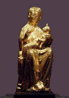 Essen : la vierge d'or de la cathédrale. Art ottonien, 960