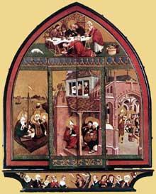 Lukas Moser (première moitié du XVè): retable de Sainte Marie Madeleine, Tieffenbronn. 1431. (Histoire de l'art - Quattrocento