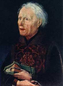 Hans Pleydenwurff (1420-1472): Portrait du comte Georg von Löwenstein. Vers 1457, bois, 34 x 25 cm. Nuremberg, Germanisches Nationalmuseum. (Histoire de l'art - Quattrocento