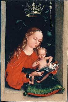La vierge à l'enfant. Vers 1485-1490 Los Angeles, J. Paul Getty Museum<br>(Histoire de l'art)