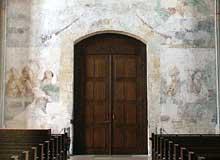 Martin Schongauer: fresque du Jugement dernier de l'église saint Etienne de Vieux Brisach. La résurrection des morts. (Histoire de l'art)