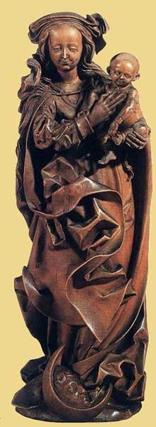 Veit Stoss (1438-1533): à l'enfant. 1500-1510. Bois, 23 cm. Londres, Victoria and Albert Museum. (Histoire de l'art - Quattrocento
