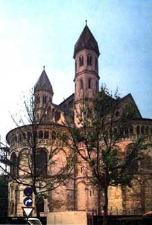 Cologne: l'église des Saints Apôtres: le chevet