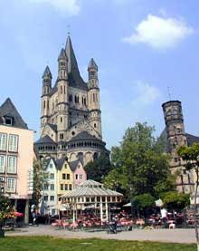 Cologne: l'église Gross Sankt Martin: le chevet