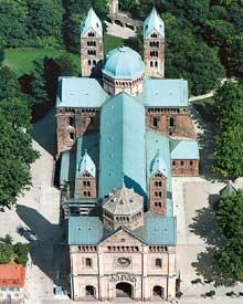 Spire: le «Kaiserdom»: vue aérienne.