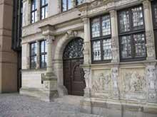 Hanovre: la maison Leibnitz: le portail