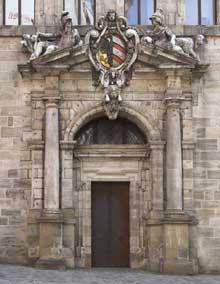 Jakob Wolff le Jeune: l'hôtel de ville de Nuremberg: le portail d'entrée