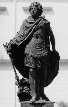 Andréas Schlüter: le prince FrédéricIII. 1698, Bronze (Original perdu) Berlin, château de Charlottenbourg