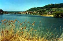 Stein am Rhein: le Rhin au sortit du lac de Constance