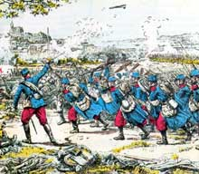 La bataille d'Altkirch, 7 août 1914… vue par les Français. Carte postale de l'époque