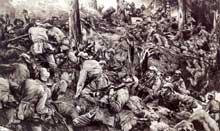 Les combats du Hartmannswillerkopf le 25 avril 1915