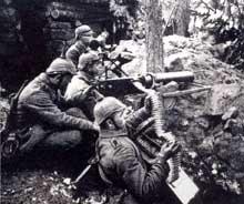 Mitrailleurs allemands au Hartmannswillerkopf