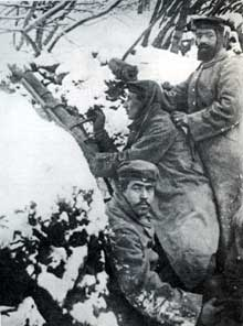 Tranchée allemande au Hartmannswillerkopf
