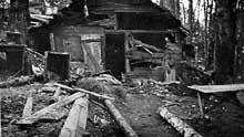 Poste de secours près du Hartmannswillerkopf après un bombardement en 1915