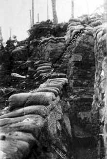 Le Linge: tranchée allemande de la 1ère compagnie du 187è régiment d'infanterie au Schratzmännele