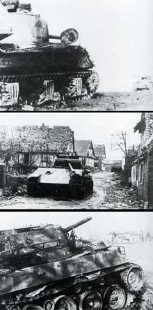 Opération Nordwind: la terrible bataille de Rittershoffen-Hatten en janvier 1945 tuera 1200 soldats Américains, 2000 soldats Allemands et plus de 100 civils… (Bundesarchiv).
