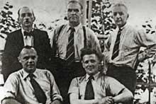 Quelques chefs de la Résistance. La Résistance alsacienne, active dès juin 1940, fournit à beaucoup de jeunes appelés le moyen de se cacher et de quitter l