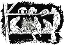Prisonniers de guerre alsaciens au camp de Tambov.