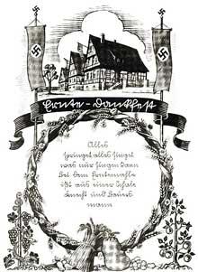 Extrait d'un livre de lecture utilisé en Alsace après 1940.