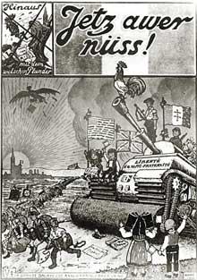 Affiche de propagande parue à la libération.