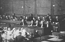 Le procès des autonomistes alsaciens à Colmar, 1928.