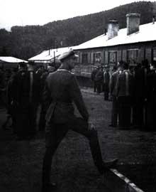 Dans le camp de Schirmeck-Vorbrück.